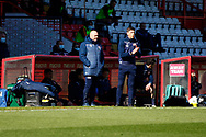 Dean Wilkins Assistant Manager of Stevenage FC during the EFL Sky Bet League 2 match between Stevenage and Bradford City at the Lamex Stadium, Stevenage, England on 5 April 2021.