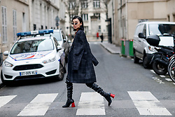 Street style, Kiwi Lee Han arriving at APC Fall-Winter 2018-2019 show held at Rue Madame, in Paris, France, on March 5th, 2018. Photo by Marie-Paola Bertrand-Hillion/ABACAPRESS.COM