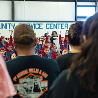 Dancers from the Starlet Dance Studio perform in front of  guests and family at the Gallup Community Service Center for  America Recycles Day, on Saturday in Gallup.
