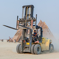 Forklift on the move