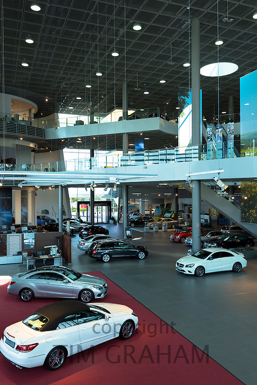 Mercedes-Benz gallery and showroom in Stuttgart, Bavaria, Germany