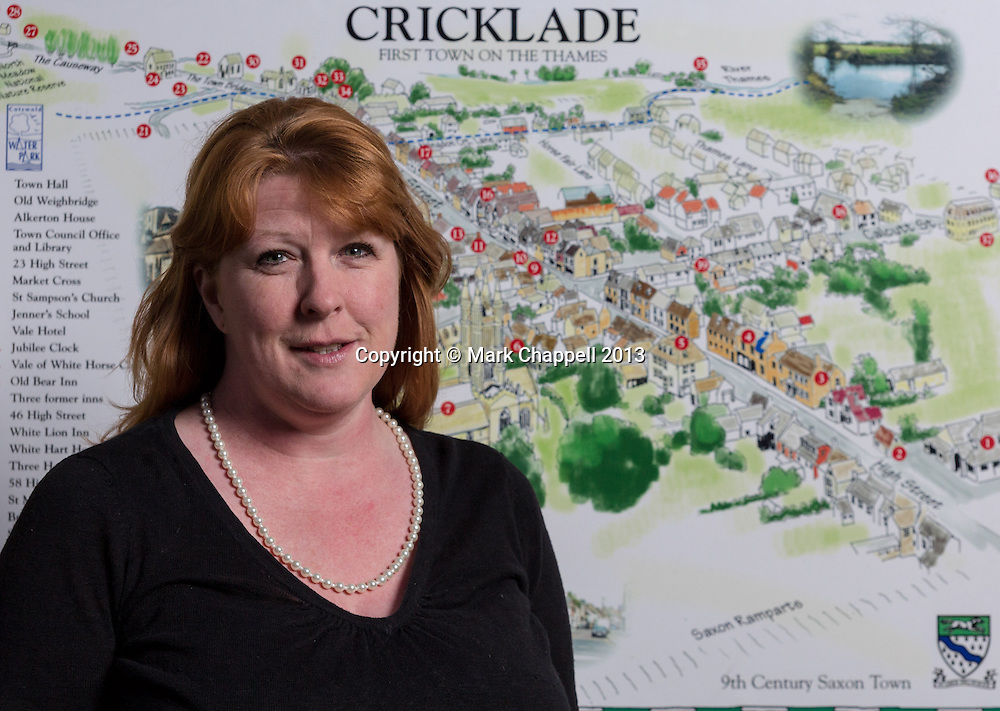 Portrait of Charlotte Rogers-Jones, the newly appointed town clerk of Cricklade. Thursday 28  March  2013.  Cricklade, UK.<br /> <br /> Photo Credit: Mark Chappell<br /> <br /> © Mark Chappell 2013. <br /> All rights reserved, see instructions.