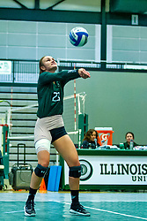 BLOOMINGTON, IL - August 24: Bev Ryan during  the IWU Titans Women<br /> s Volleyball Green-White scrimmage on August 24 2019 at Shirk Center in Bloomington, IL. (Photo by Alan Look)