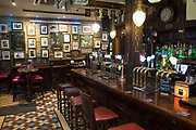 Interior of Slattery's traditional Irish pub on 04th April 2017 in Dublin, Republic of Ireland. Slattery's is one of a handful of pubs in Ireland which holds a licence to open at 7am. Dublin is the largest city and capital of the Republic of Ireland.
