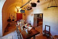 France, Indre et Loire (37), Château de Chenonceau, édifié de 1513 à 1521, de style Renaissance, au bord du Cher, la cuisine // France, Indre-et-Loire,  Chenonceau Castle and the Cher river, the Kitchen