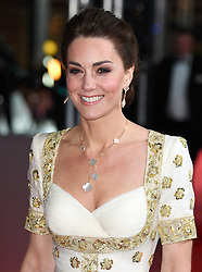 The Duke and Duchess of Cambridge attend the BAFTA Film Awards 2020 at The Royal Albert Hall, London, UK, on the 2nd February 2020. 02 Feb 2020 Pictured: Catherine, Duchess of Cambridge, Kate Middleton. Photo credit: James Whatling / MEGA TheMegaAgency.com +1 888 505 6342