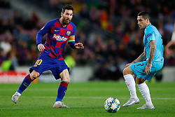 November 5, 2019, Barcelona, Catalonia, Spain: November 5, 2019 - Barcelona, Spain - Uefa Champions League Stage Group, FC Barcelona v Slavia Praga: Lionel Messi of FC Barcelona passes the ball. (Credit Image: © Eric Alonso/ZUMA Wire)