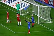 Kylian Mbappe (FRA) missed to score, Antoine Griezmann (FRA), Joe Ledley (WAL), Wayne Hennessey (WAL), Ben Davies (WAL) during the 2017 Friendly Game football match between France and Wales on November 10, 2017 at Stade de France in Saint-Denis, France - Photo Stephane Allaman / ProSportsImages / DPPI