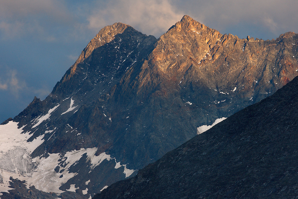 Sunset at Pasterze Glacier Valley, Hohe Tauern National Park, Carinthia, Austria