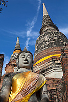 Chedi at Wat Yai Chai Mongkhan or the Great Monastery of Auspicious Victory.  This chedi is one of the landmarks of Ayutthaya.