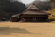 Shizutani School, the oldest school in the world, Bizen city, Okayama Prefecture, Japan, February 2, 2014. The city of Bizen in central Japan is famous for Bizen-ware pottery. It is also one of Japan's main traditional sword making regions, home to Osafune sword-makers and polishers.