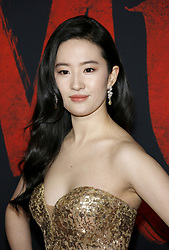 Yifei Liu at the World premiere of Disney's 'Mulan' held at the Dolby Theatre in Hollywood, USA on March 9, 2020.