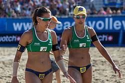 01-08-2014 AUT: FIVB Grandslam Volleybal, Klagenfurt<br /> Juliana Felisberta Silva (BRA), Maria Elisa Antonelle (BRA)<br /> ***NETHERLANDS ONLY***
