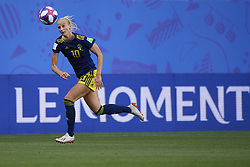 June 29, 2019 - Rennes, France - Sofia Jakobsson (Montpellier HSC) of Sweden in action during the 2019 FIFA Women's World Cup France Quarter Final match between Germany and Sweden at Roazhon Park on June 29, 2019 in Rennes, France. (Credit Image: © Jose Breton/NurPhoto via ZUMA Press)