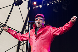 © Licensed to London News Pictures . 21/07/2013 . Suffolk , UK . Bobby Womack on the Obelisk Stage . The Latitude music and culture festival in Henham Park , Southwold . Photo credit : Joel Goodman/LNP