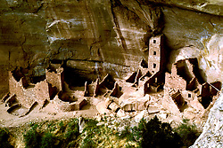 CO: Colorado Mesa Verde National Park, Cliff Palace, Saguaro Tower    .Photo Copyright: Lee Foster, lee@fostertravel.com, www.fostertravel.com, (510) 549-2202.Image comesa206