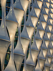 Detail of the ETFE cladding to the American Embassy in Nine Elms designed by Keiran Timberlake Architects.<br />