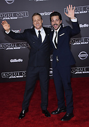 Celebrities arrive at the 'Rogue One: A Star Wars Story' movie premiere in Hollywood, California. 10 Dec 2016 Pictured: Alan Tudyk and Diego Luna. Photo credit: American Foto Features / MEGA TheMegaAgency.com +1 888 505 6342