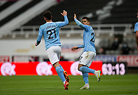 Football - 2020 / 2021 Premier League - Newcastle United vs Manchester City - St James' Park<br /> <br /> Ferran Torres of Manchester City scores to make it 3-3<br /> <br /> Credit : COLORSPORT/BRUCE WHITE