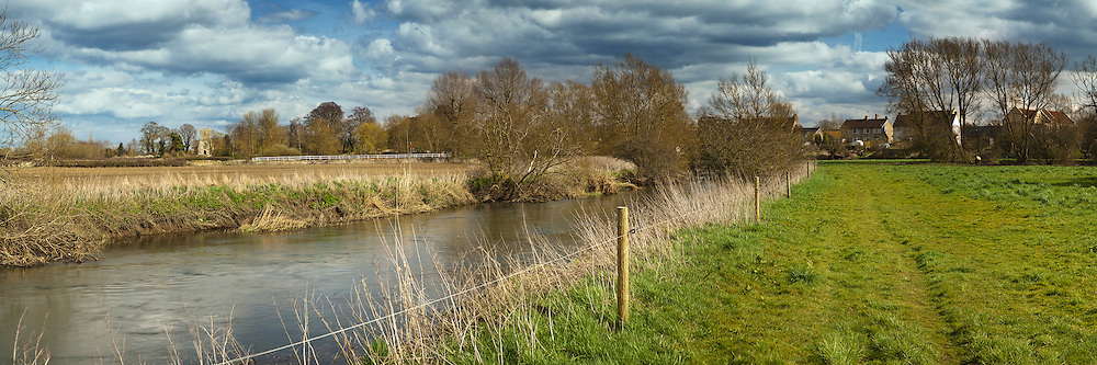 The River Thames at Castle Eaton, Wiltshire, Uk