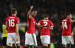 Manchester United's Anthony Martial celebrates scoring his side's fourth goal of the game during the Carabao Cup, Third Round match at Old Trafford, Manchester.
