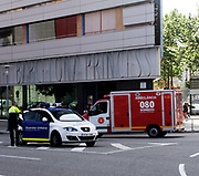 Police and Ambulance emergency vehicles in Barcelona. Spain 2013