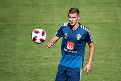 July 4, 2018 - Gelendzhik, Russia - 180704 Emil Krafth of the Swedish national football team at a practice session during the FIFA World Cup on July 4, 2018 in Gelendzhik..Photo: Petter Arvidson / BILDBYRN / kod PA / 92081 (Credit Image: © Petter Arvidson/Bildbyran via ZUMA Press)