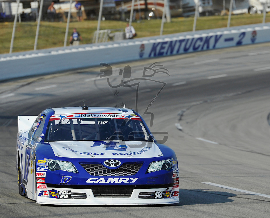 Sparta, KY - JUN 29, 2012: Tanner Berryhill (17) during the final practice for the Feed the Children 300 at the Kentucky Speedway in Sparta, KY.