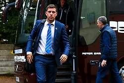 Bristol Rovers manager Darrell Clarke arrives at The Crown Oil Arena for the Sky Bet League One fixture with Rochdale - Mandatory by-line: Robbie Stephenson/JMP - 02/10/2018 - FOOTBALL - Crown Oil Arena - Rochdale, England - Rochdale v Bristol Rovers - Sky Bet League One