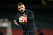Rob Evans of Wales during the Wales rugby team captains run at the Principality Stadium  in Cardiff , South Wales on Friday 2nd February 2018.  the team are preparing for their opening Natwest 6 Nations 2018 championship match against Scotland tomorrow.   pic by Andrew Orchard