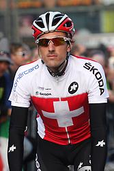 Fabian Cancellara (Swiss) during the Men's Elite Road Race at the UCI Road World Championships on September 25, 2011 in Copenhagen, Denmark. (Photo by Marjan Kelner / Sportida Photo Agency)