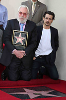1/26/2011 Colin Ferrell joins Donald Sutherland during Donald's Hollywood Walk of Fame ceremony