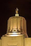 The Oregon State Capitol at night,  Salem, Oregon