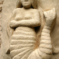 Europe, Great Britain, United Kingdom, Scotland. Mermaid in stone at Stirling Castle.