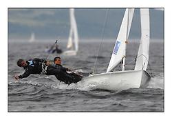 470 Class European Championships Largs - Day 1.FRA34, Gabriel SKOCZEK, Achille NEBOUT, Yacht Club Mauguio Carnon