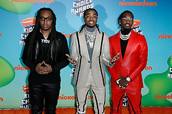 March 23, 2019 - Los Angeles, CA, USA - LOS ANGELES, CA - MARCH 23: Quavo, Offset, Takeoff, Migos attend Nickelodeon's 2019 Kids' Choice Awards at Galen Center on March 23, 2019 in Los Angeles, California. Photo: CraSH for imageSPACE (Credit Image: © Imagespace via ZUMA Wire)