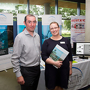 28/08/2015             <br /> Pharmaceutical Manufacturing Technology Centre (PMTC) Knowledge day at the Kemmy Business School, University of Limerick.    <br />   Pictured at the event were, Peter Sheehan and Siobhan Fleming of Zenith Technologies.  Picture: Alan Place