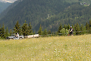 Mountain biking in the Portes du Soleil region of the French Alps.