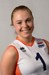 07-04-2014 NED: SELECTIE JONG ORANJE: ARNHEM<br /> Volleybalteam Jong Oranje / Janieke Popma<br /> ©2014-FotoHoogendoorn.nl
