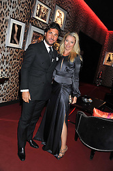 GIORGIO VERONI and TAMARA BECKWITH at a party hosted by Roberto Cavalli to celebrate his new Boutique's opening at 22 Sloane Street, London followed by a party at Battersea Power Station, London SW8 on 17th September 2011.