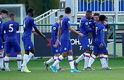 Chelsea's George McEachran celebrates scoring his team's first goal