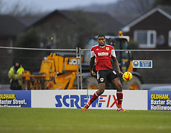 Bristol City's Jay Emmanuel-Thomas - Photo mandatory by-line: Joe Meredith/JMP - Tel: Mobile: 07966 386802 08/02/2014 - SPORT - FOOTBALL - Oldham - Boundary Park - Oldham Athletic v Bristol City - Sky Bet League One