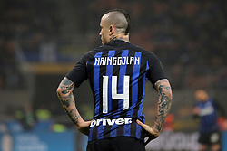 February 17, 2019 - Milan, Milan, Italy - MILAN, ITALY - FEBRUARY 17: Radja Nainggolan #14 of FC Internazionale Milano reacts to a missed chance during the serie A match between FC Internazionale and UC Sampdoria at Stadio Giuseppe Meazza on February 17, 2019 in Milan, Italy. (Credit Image: © Giuseppe Cottini/NurPhoto via ZUMA Press)