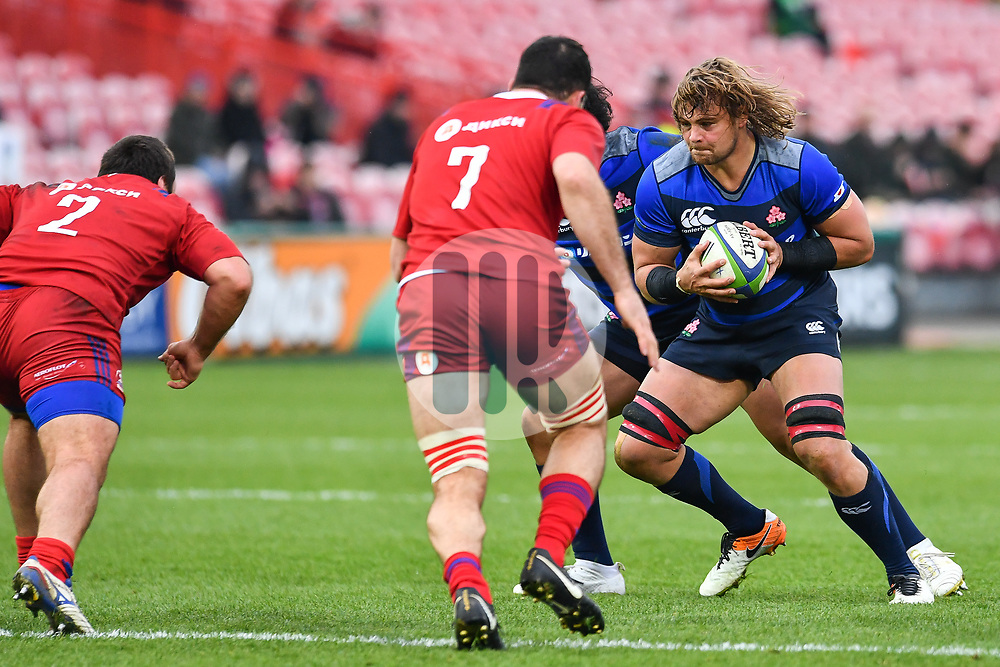 Wimpie van der Walt of Japan in action <br /> <br /> Photographer Craig Thomas<br /> <br /> Japan v Russia<br /> <br /> World Copyright ©  2018 Replay images. All rights reserved. 15 Foundry Road, Risca, Newport, NP11 6AL - Tel: +44 (0) 7557115724 - craig@replayimages.co.uk - www.replayimages.co.uk