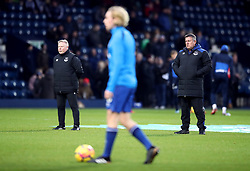"""Everton's first team coach Craig Shakespeare and assistant manager Sammy Lee (left) before the Premier League match at The Hawthorns, West Bromwich. PRESS ASSOCIATION Photo. Picture date: Tuesday December 26, 2017. See PA story SOCCER West Brom. Photo credit should read: Nick Potts/PA Wire. RESTRICTIONS: EDITORIAL USE ONLY No use with unauthorised audio, video, data, fixture lists, club/league logos or """"live"""" services. Online in-match use limited to 75 images, no video emulation. No use in betting, games or single club/league/player publications."""