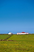 Smallholding farm with Dutch barn in Bealatha, County Clare, West of Ireland
