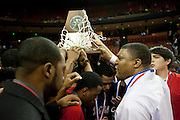 Dallas Kimball head coach Royce Johnson has words with his team after losing to Rosenberg Terry in the UIL 4A state championship game at the Frank Erwin Center in Austin on Saturday, March 9, 2013. (Cooper Neill/The Dallas Morning News)