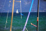 Sailboat on Flathead Lake, Montana.