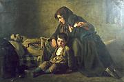 La Mort du Pauvre' (The Poor Man's Death)  1849.  Jean Pierre Antigna (1817-1878) French painter. Oil on canvas.
