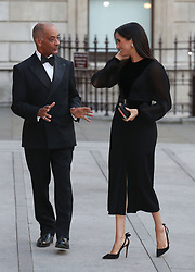 The Duchess of Sussex, with Lord-Lieutenant of Greater London Sir Kenneth Olisa, attends the opening of Oceania at the Royal Academy of Arts in London.